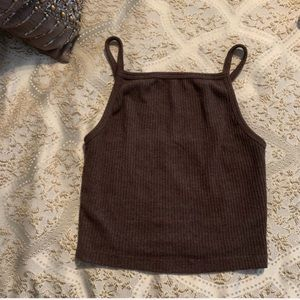 Urban Outfitters Taupe Halter Crop Top Size S